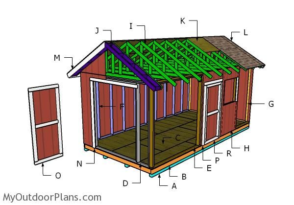 10x20 Shed Plans Myoutdoorplans Free Woodworking Plans And Projects Diy Shed Wooden Playhouse Pergola Bbq 10x20 Shed Diy Shed Shed Plans