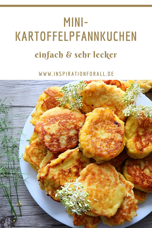 Leckere Mini Kartoffelpfannkuchen | einfaches & schnelles Rezept #Kartoffelpfannkuchen #KartoffelpfannkuchenRezept #foodanddrink
