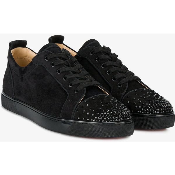 f2abe33af53f Christian Louboutin Louis Junior crystal sneakers (1575 LYD) ❤ liked on  Polyvore featuring crystal shoes