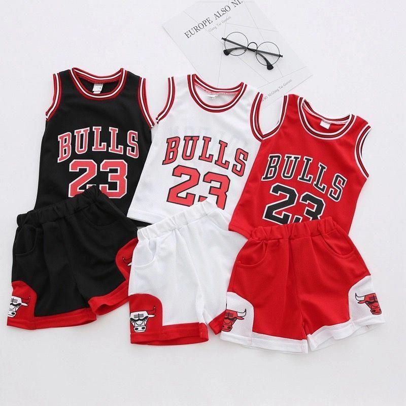 9b37cd1ac64 Great deal for Michael Jordan lover Chicago Basketball Summer Sports  Children Baby Boys Girls Toddler Clothes Sets Tops T-shirt Pants Shorts  suit Outfits 2 ...