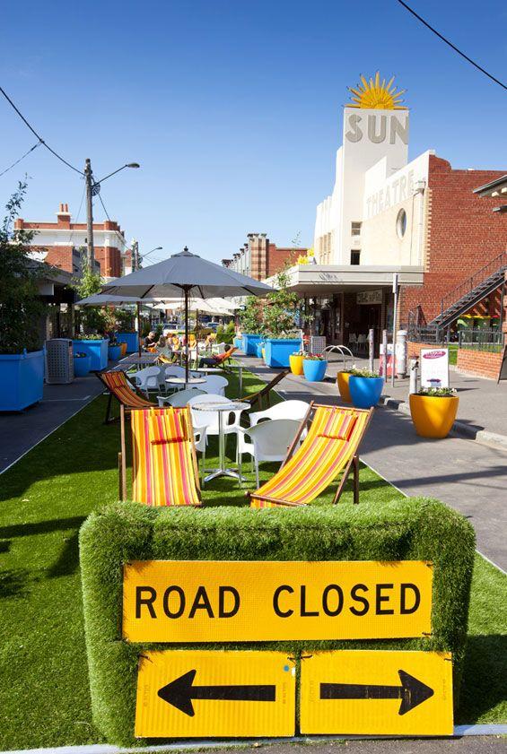 City Creates Pop Up Park In Yarraville Public Space Design Pocket Park Urban Design