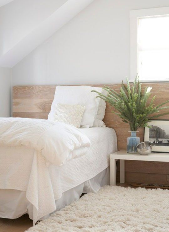 Adding A Small Flokati At The Bedside Also Really Like Extended Headboard Creates Fluidity
