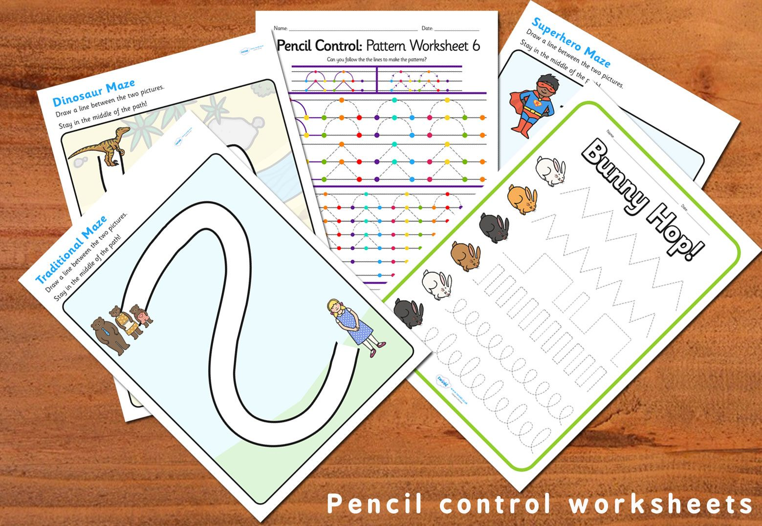 Pencil Control Worksheets