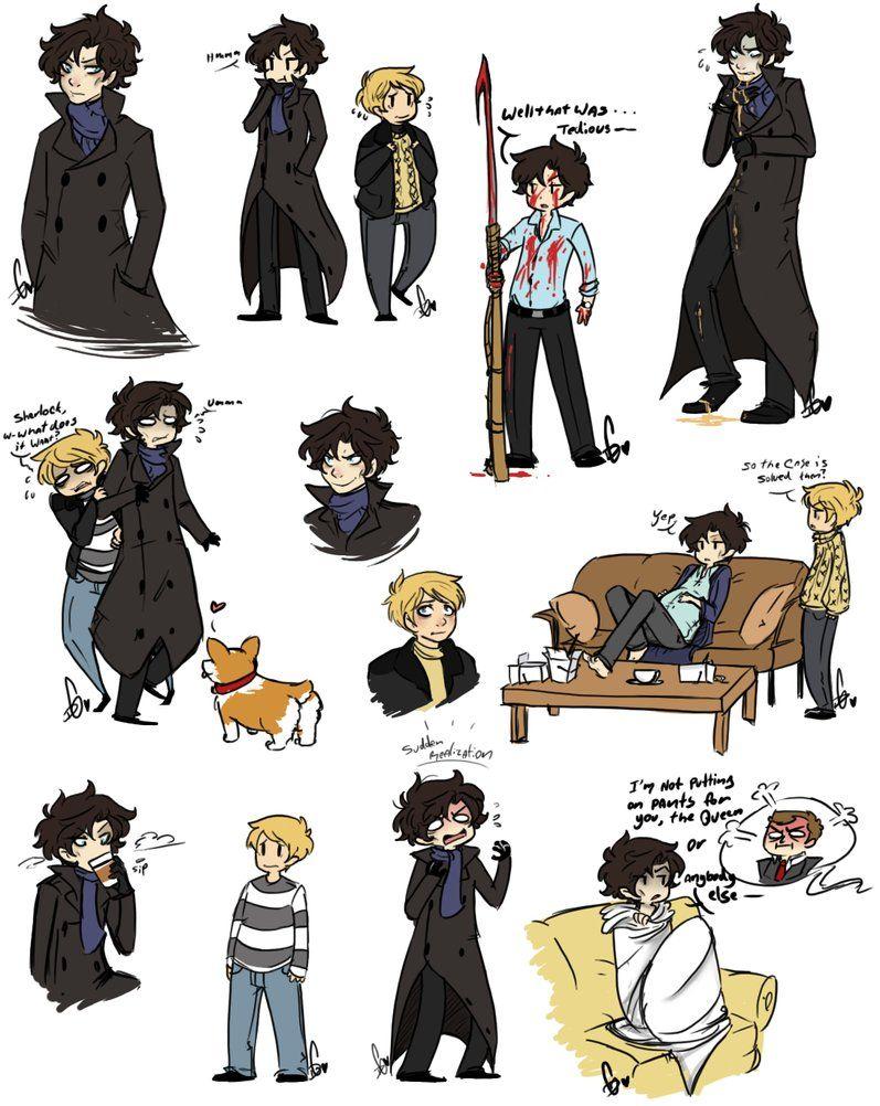 Sherlock doodles by ~Squidbiscuit | My Inner Geek | Sherlock bbc