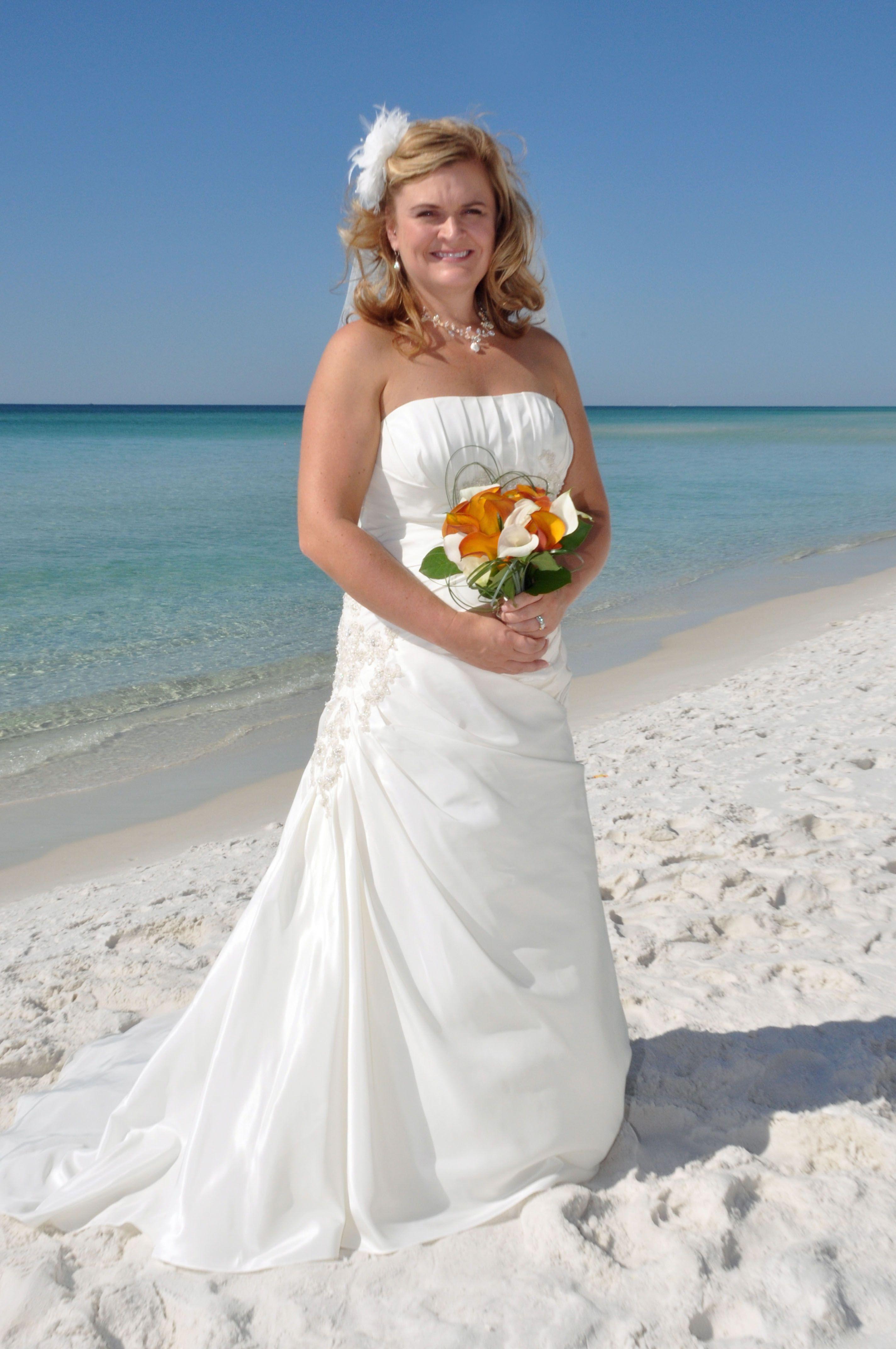 Morning wedding dresses  Morning wedding Destin FL October  photo by Sunset Beach