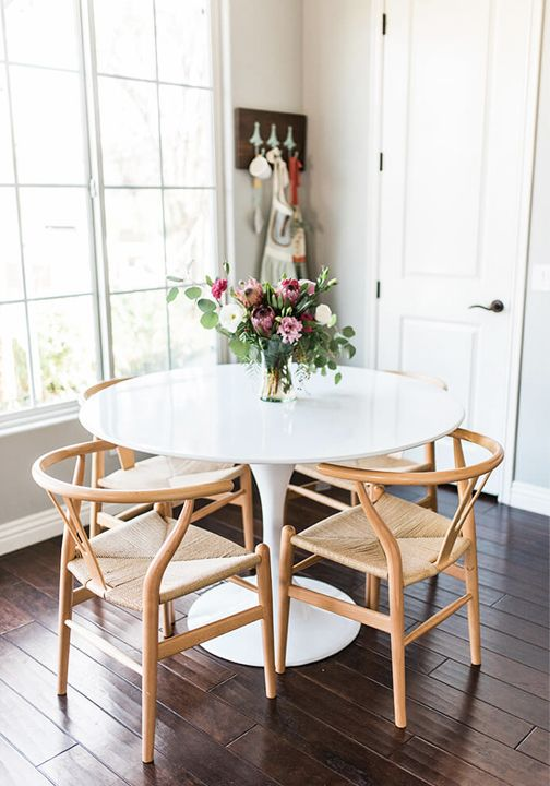 Friday Furnishings The Wishbone Chair My Style Vita Dining Room Small Small Dining Table Small Kitchen Tables