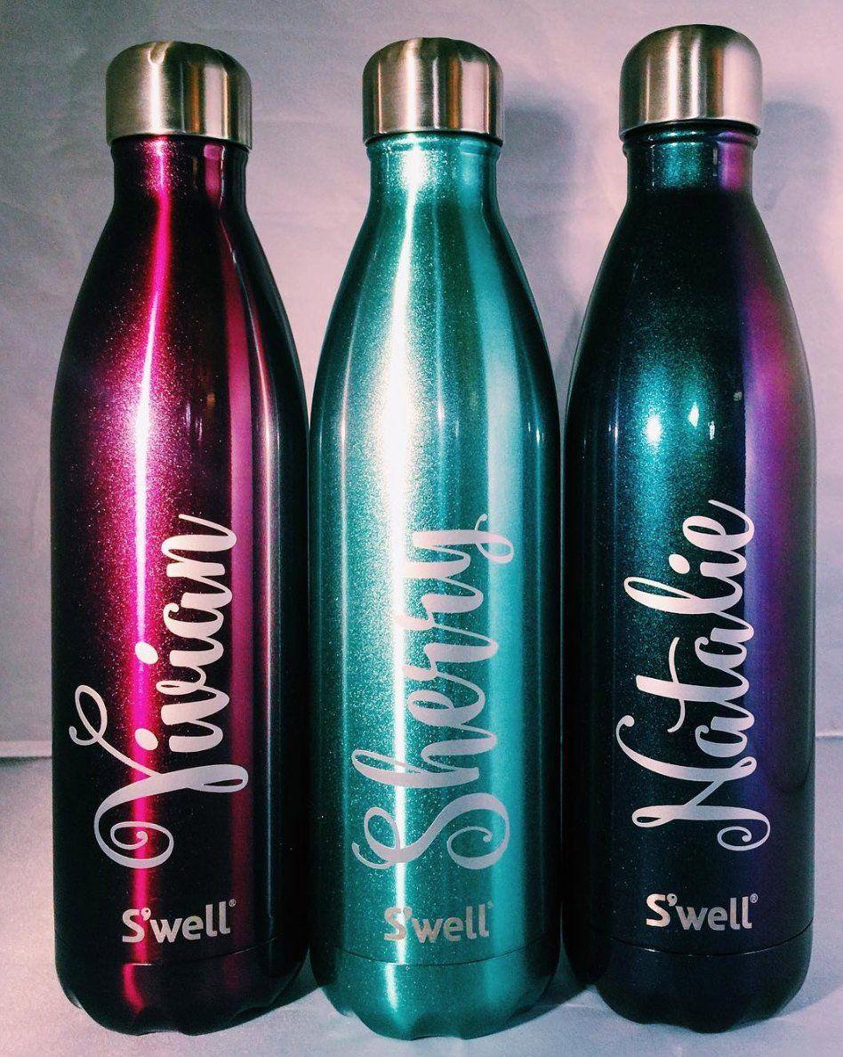 personalized name s well bottles bridesmaids groomsmen teacher