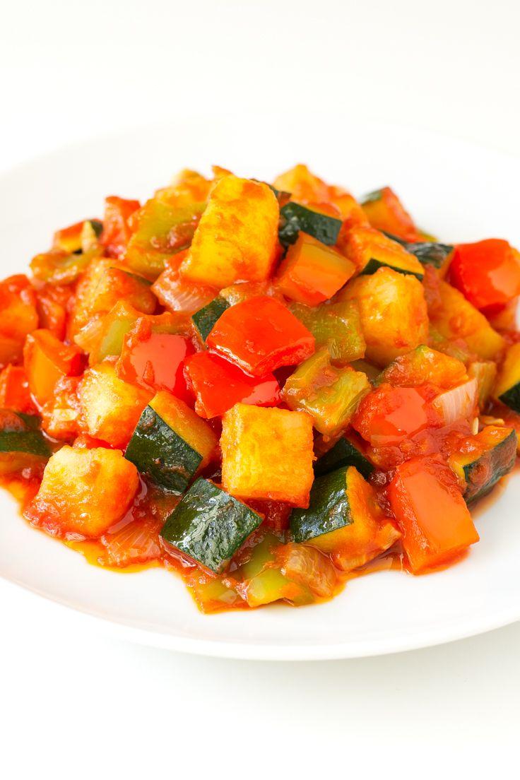 Spanish Pisto Recipe Spanish Dishes Veg Dishes Food Recipes