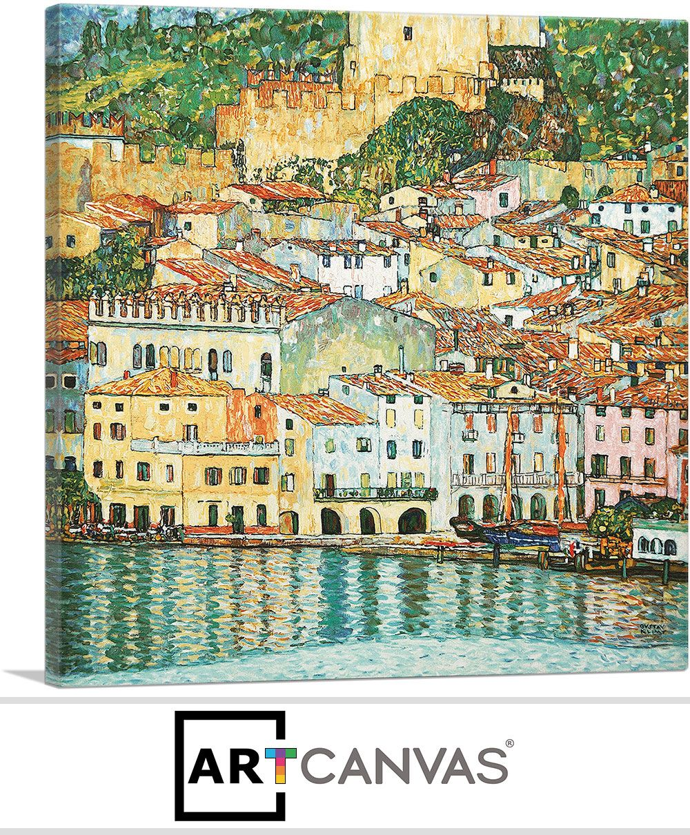 ARTCANVAS Malcesine Lake Garda 1913 Canvas Art Print by Gustav Klimt
