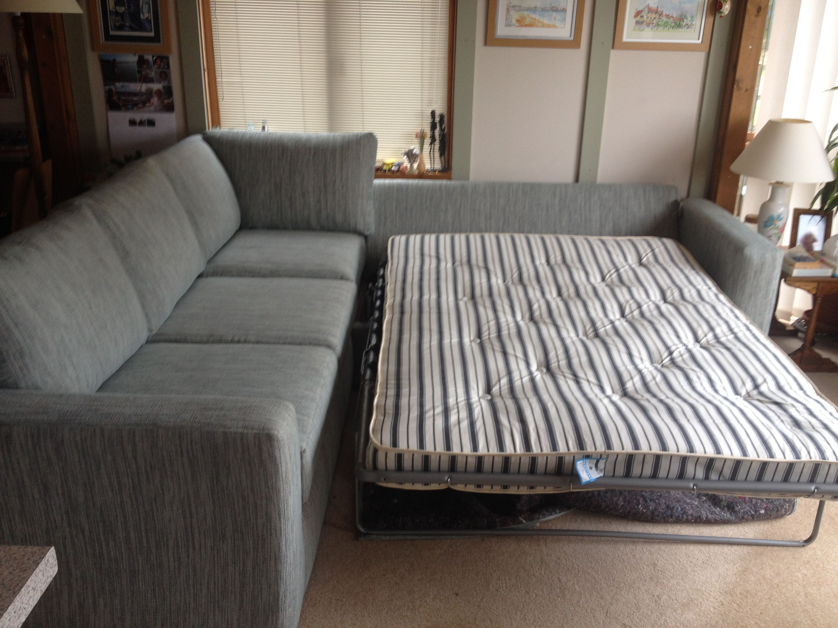 Bespoke sofa bed corner unit. This is in J Brown\'s Harley duck egg ...