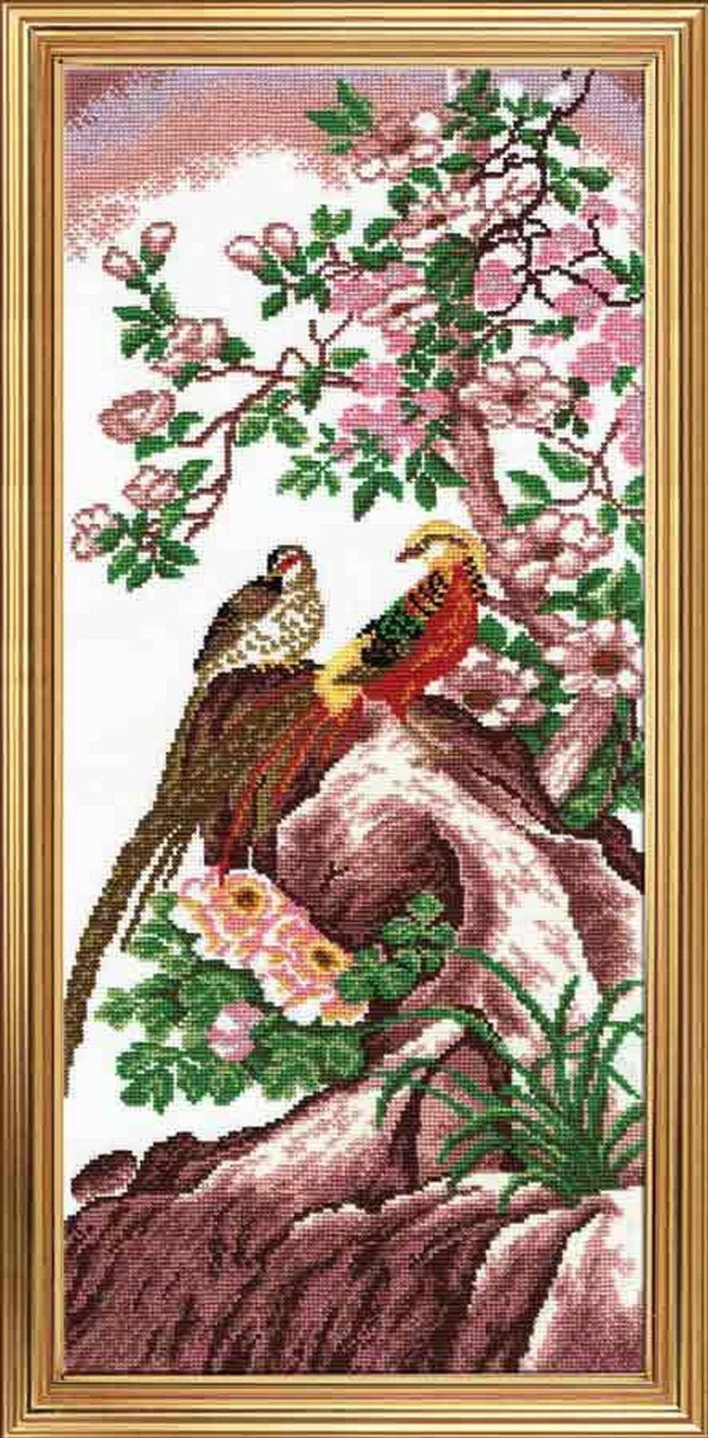 Chinese Birds Cross Stitch Kit With Color Symbolic Scheme Sku624
