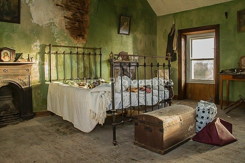 irish cottage interior looks like a movie set for a period film