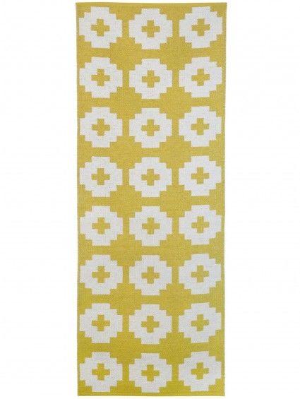 Kunststoff In- \ Outdoor Läufer Flower Gelb #benuta #teppich - teppiche für die küche