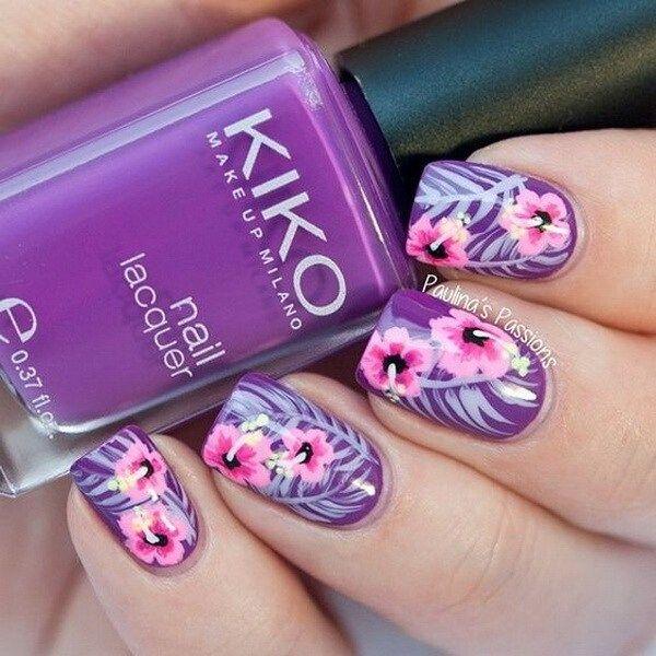 30+ Chosen Purple Nail Art Designs | Arte sencillo de uñas, Arte ...