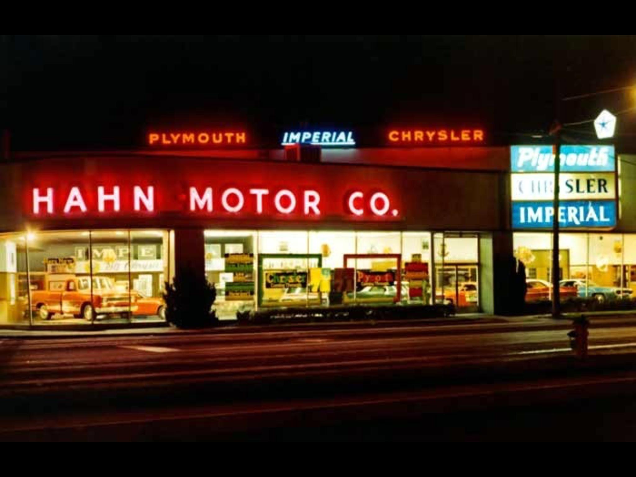 Hahn Motors Co., Chrysler Plymouth Imperial Dealership ...