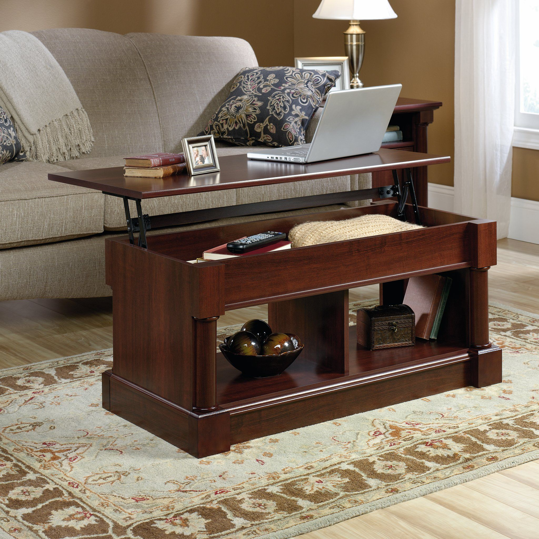 Lift Top Coffee Table Extra Hidden And Open Storage Space Work Surface Space Saving Rectangle Shape Ideal Coffee Table Lift Coffee Table Living Room Table Sets [ 2048 x 2048 Pixel ]