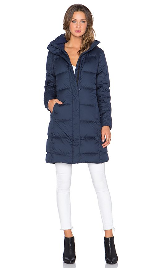 Patagonia Down With It Parka in Navy Blue | REVOLVE
