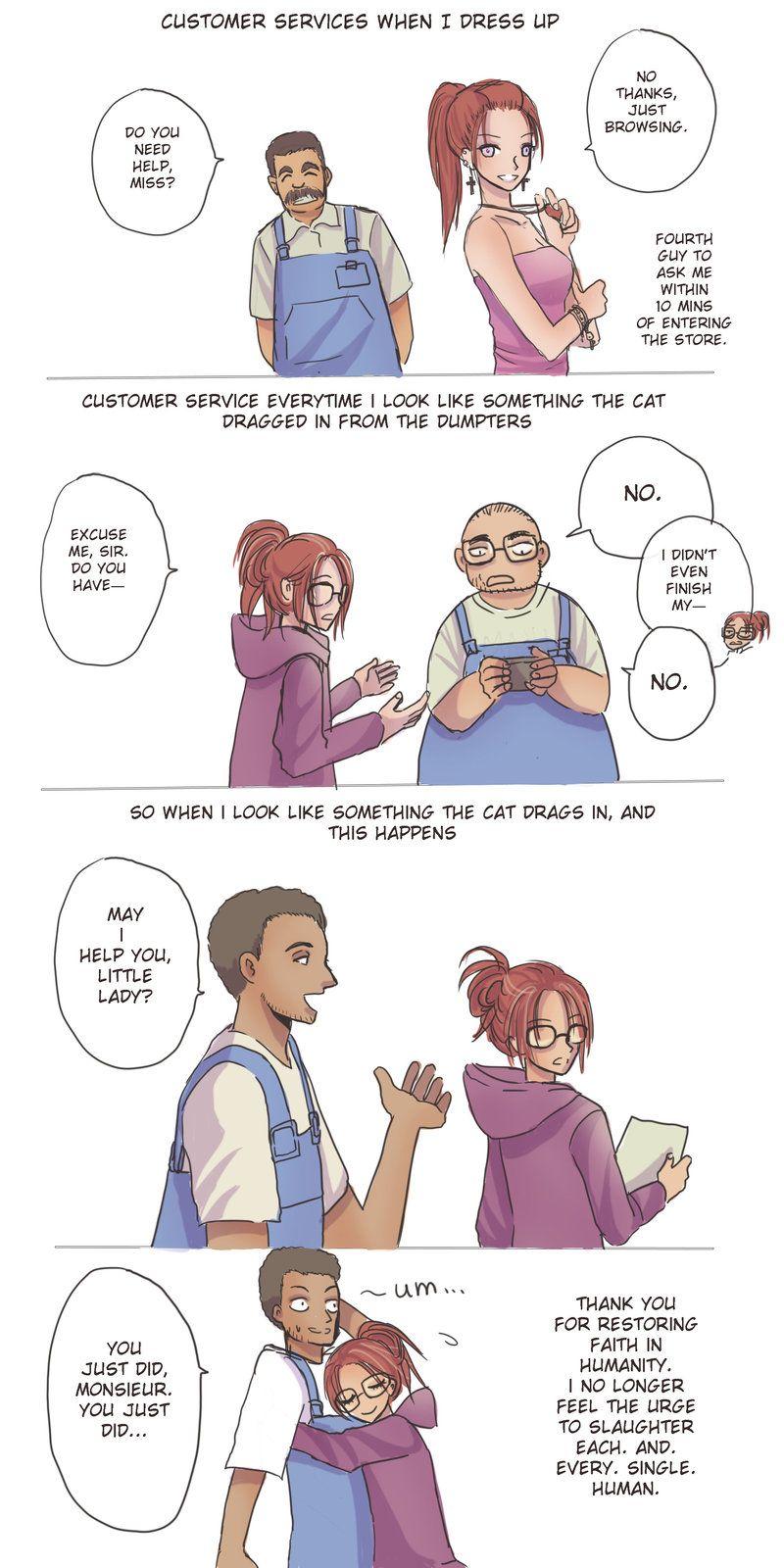 Customer service by snailords on deviantart mangas