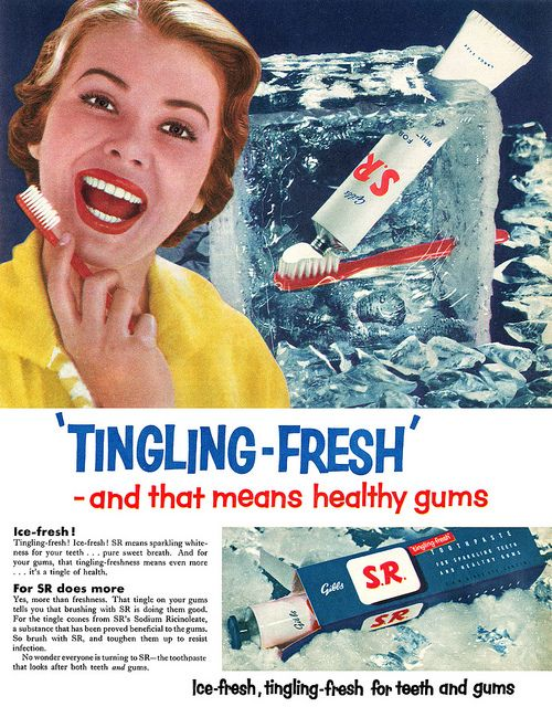 SR Toothpaste advertisement. by totallymystified, via Flickr