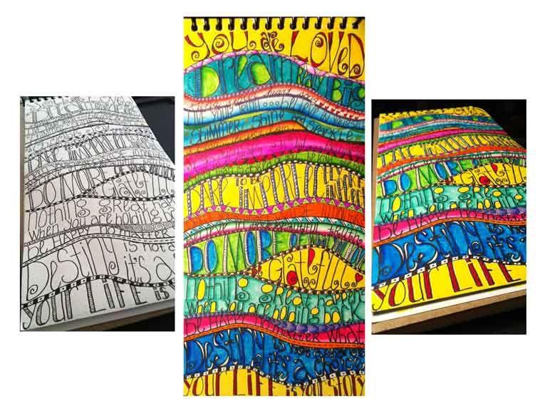 LINDA KITTMER'S FIBRE ART, PHOTOGRAPHY & JOURNALLING: Artful Lettering and My January Art Journal Calendar