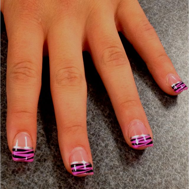 Zebra Nail Ideas: Pink Zebra Nails, Zebra Nails