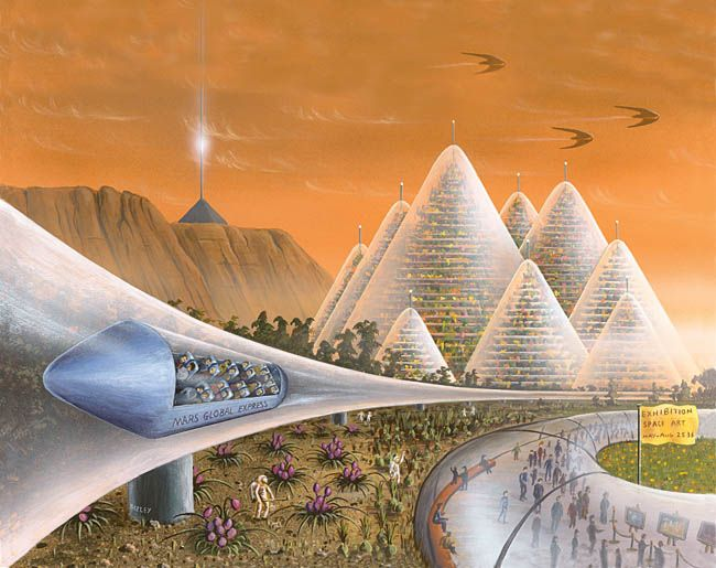 Pin by Mihu Neala on Mars Colony | Retro futurism, Alien ...