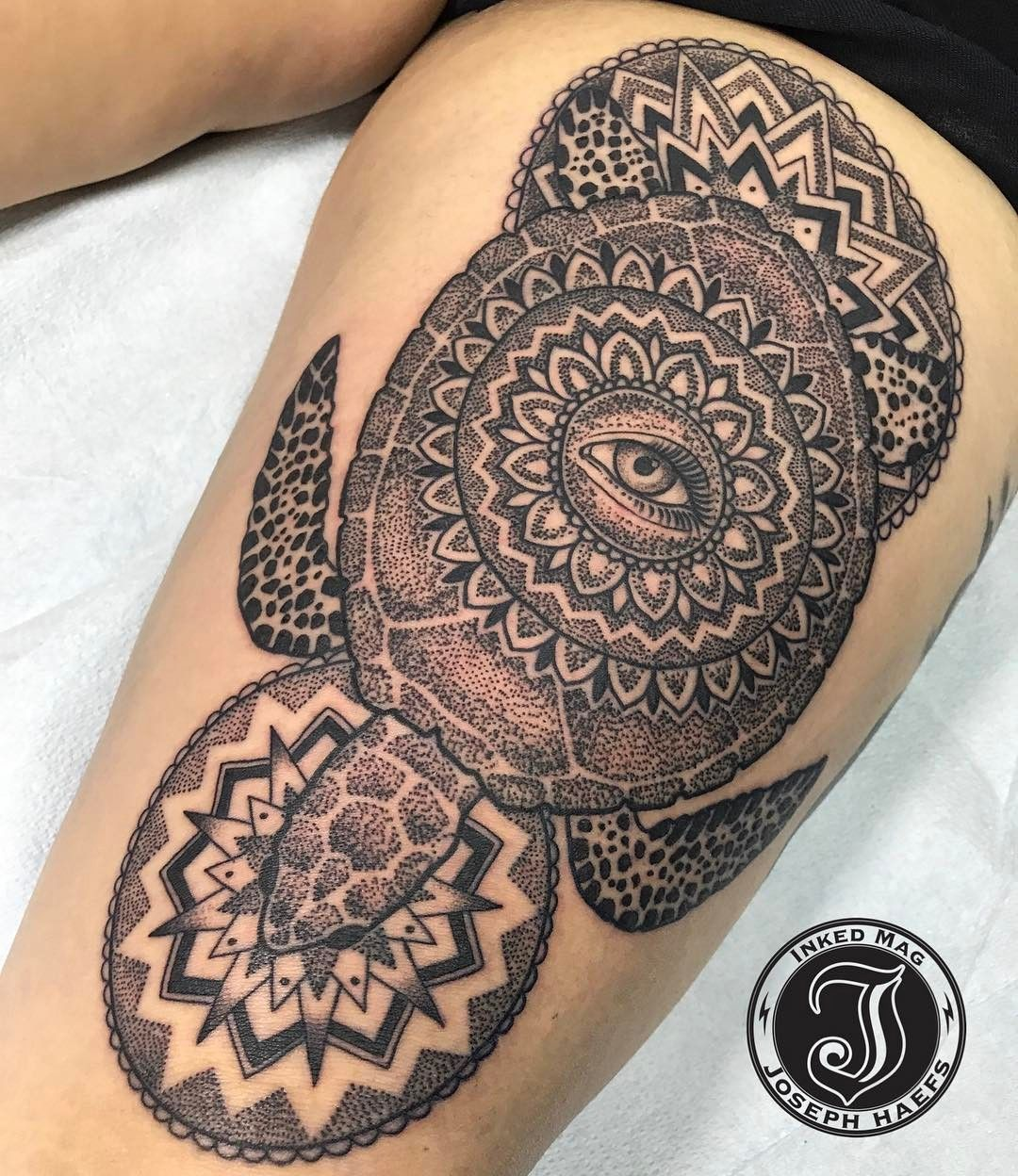 Tattoo Ideas Joe: Mandala Sea Turtle By Joseph Haefs Reverent Tattoo Las