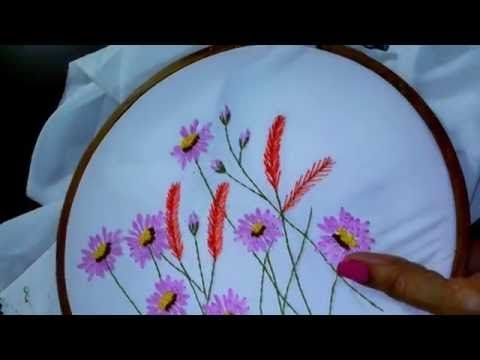 Hand Embroidery Tutorial Mirror Work Romanian Couching Stitch