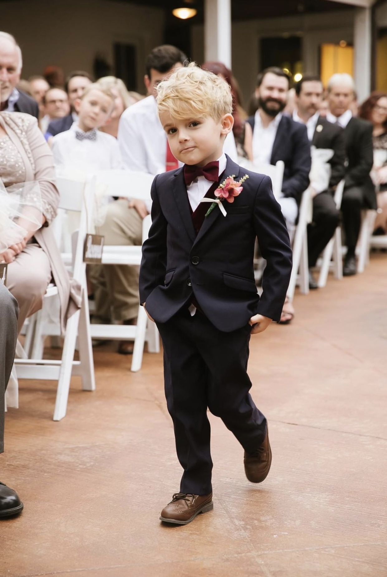 Signature Boys Navy Slim Fit Suit For Kids Of All Ages Wedding