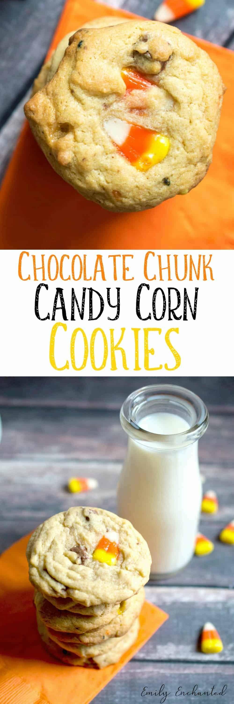 Chocolate Chunk & Candy Corn Cookies | Halloween Cookies Recipe