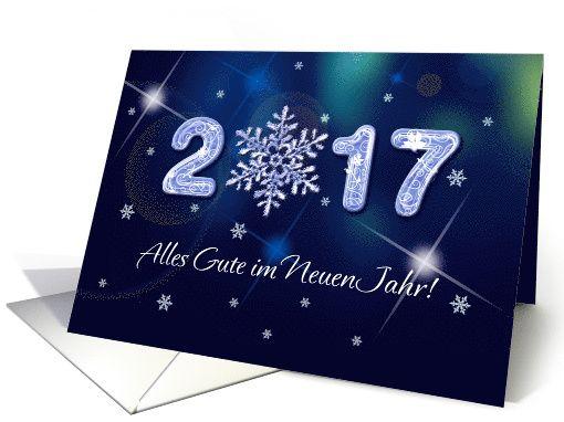 Alles Gute Im Neuen Jahr 2020 New Year S 2020 Card In German Card New Year Greeting Cards Happy New Year 2019 Elegant Snowflake