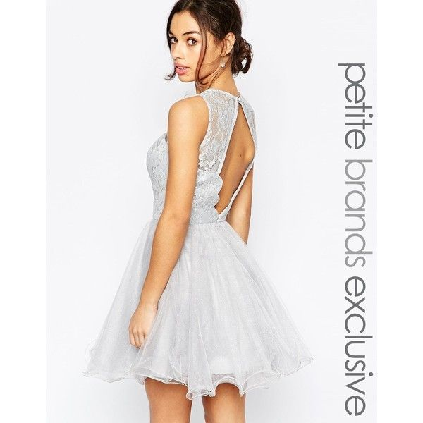 Chi Chi London Petite Lace Prom Dress With Open Scallop Back ($100 ...