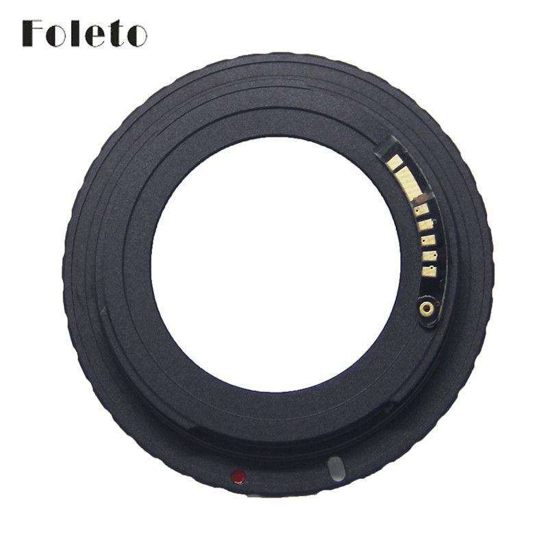 Foleto AF Camera M42 E Black AF Confirm Mount Adapter For M42 Lens to For Canon EOS EF Camera EOS 5D / EOS 5D Mark II / EOS 7D