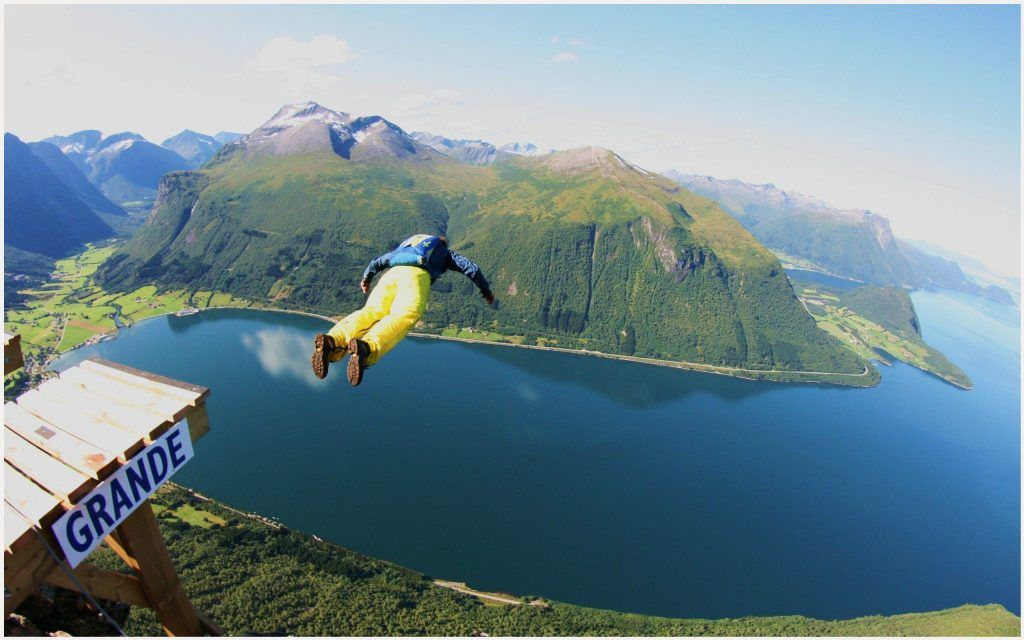 Sports Wallpaper 1080p: Base Jumping Adventure Sports Wallpaper
