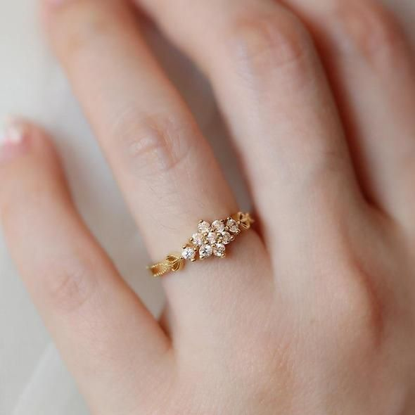 cc16da13f50405 Adjustable Dainty Cute Women's Plated Snowflake Rings Delicate Rings R –  intothea
