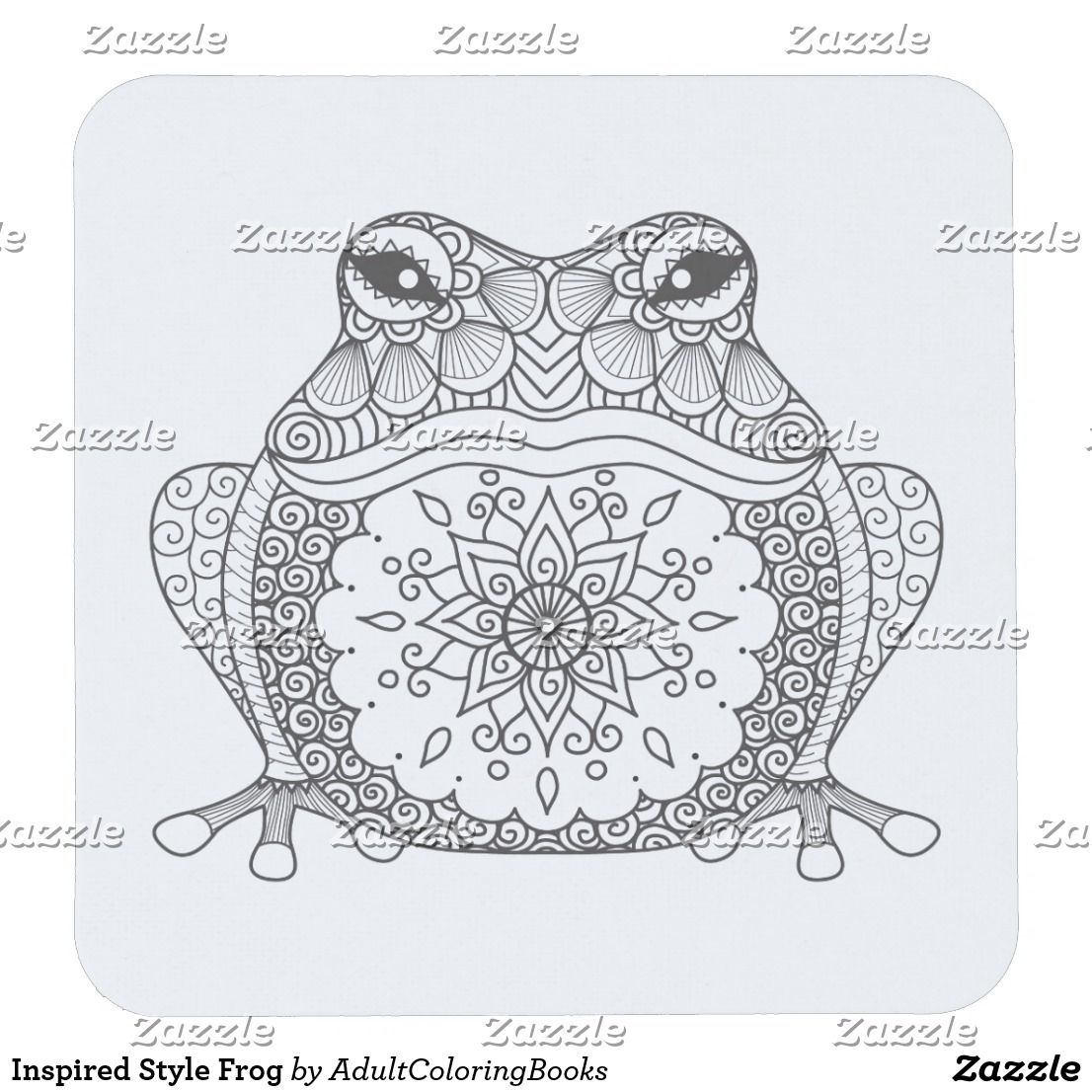 Inspired Style Frog Square Paper Coaster