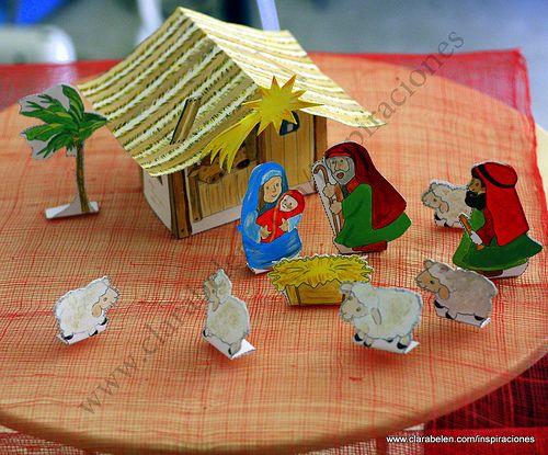Manualidades navideñas para niños Portal de Belén Explico cómo