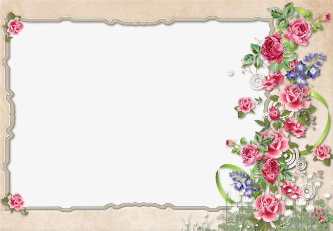 Floral Border Design PNG Image