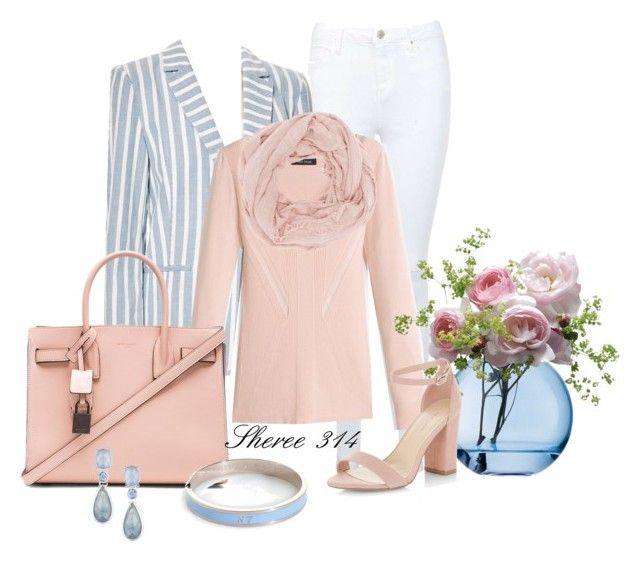 """""""Untitled #1384"""" by sheree-314 on Polyvore featuring Miss Selfridge, Frame Denim, White House Black Market, Charlotte Russe, Yves Saint Laurent, LSA International, New Look, Whistle & Bango and Anne Klein"""