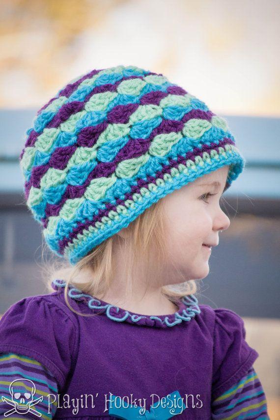 CROCHET HAT PATTERN - Kids Mogul Mountain Beanie | Pinterest | Gorros