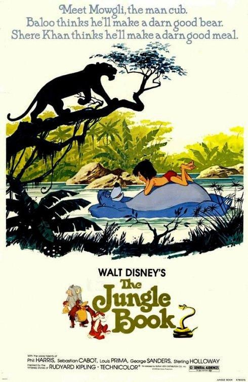 The Jungle Book Movie Retro Vintage Poster American Fantasy Adventure Film Kids