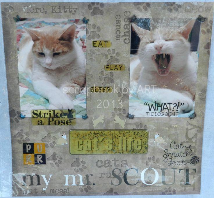 Cat Scrapbooking Ideas Cat Scrapbook Page Pet Pages Pinterest