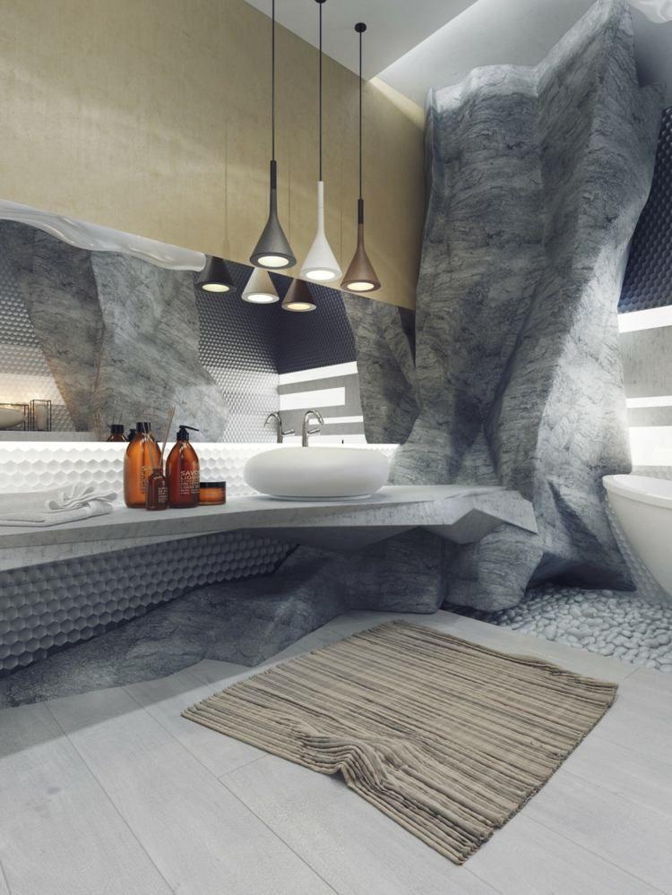 In Diesem Luxus Badezimmer Werden Felsen Imitiert