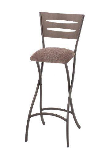 Wondrous Meco 2 Pack Destiny Folding Barstool Brownstone Metal Frame Bralicious Painted Fabric Chair Ideas Braliciousco