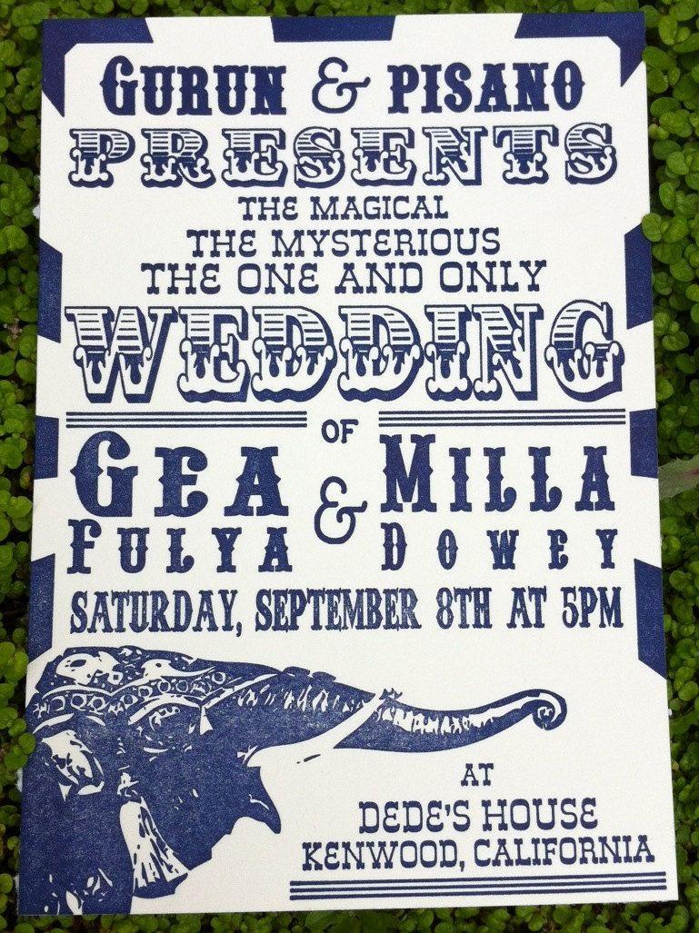 circus style wedding program | Invitations & Paper Goods | Pinterest ...