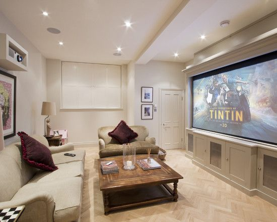 London Design Ideas Pictures Remodel And Decor Home Theater Rooms Family Room Design Home Theater Seating