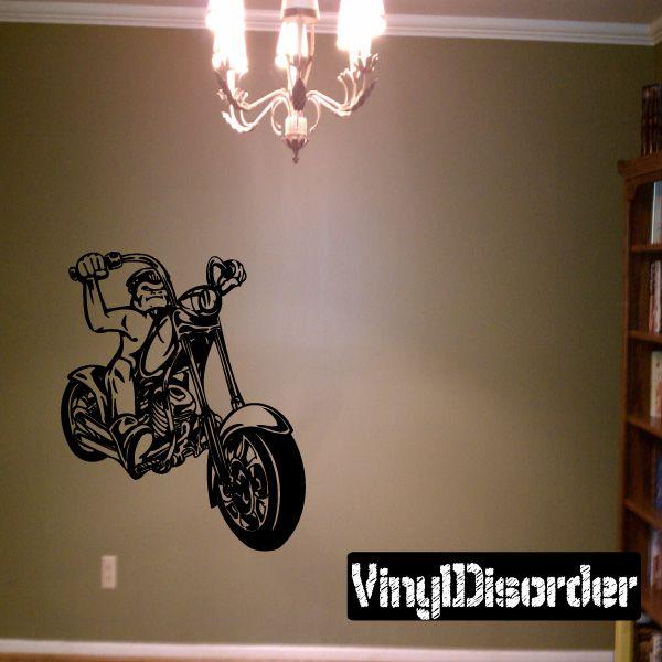 Chopper Wall Decal - Vinyl Decal - Car Decal - DC 051