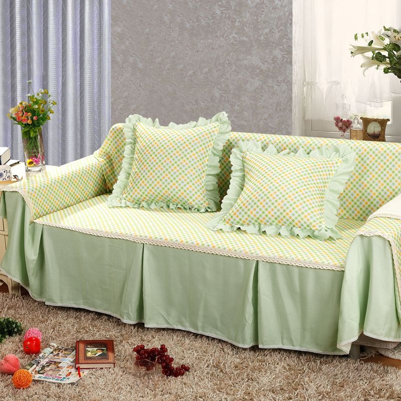 Perfect SunnyRain Pastoral Green Floral Sectional Sofa Cover For L Shaped Sofa  Slipcover Couch Cover Furniture Protector