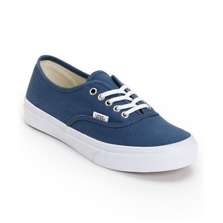 Vans Authentic Slim Dark Denim Blue Shoes  5a5454a7d