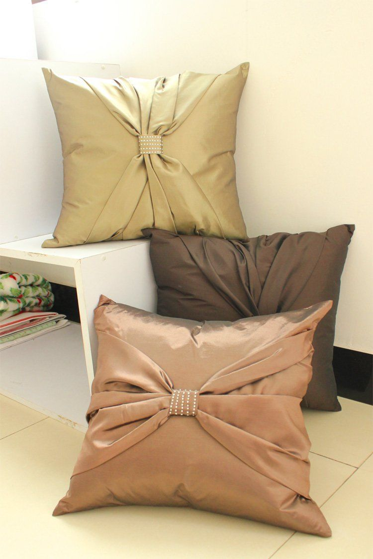 -Suolanduo-Free-shipping-bowknot-decorate-cushion-cover ...